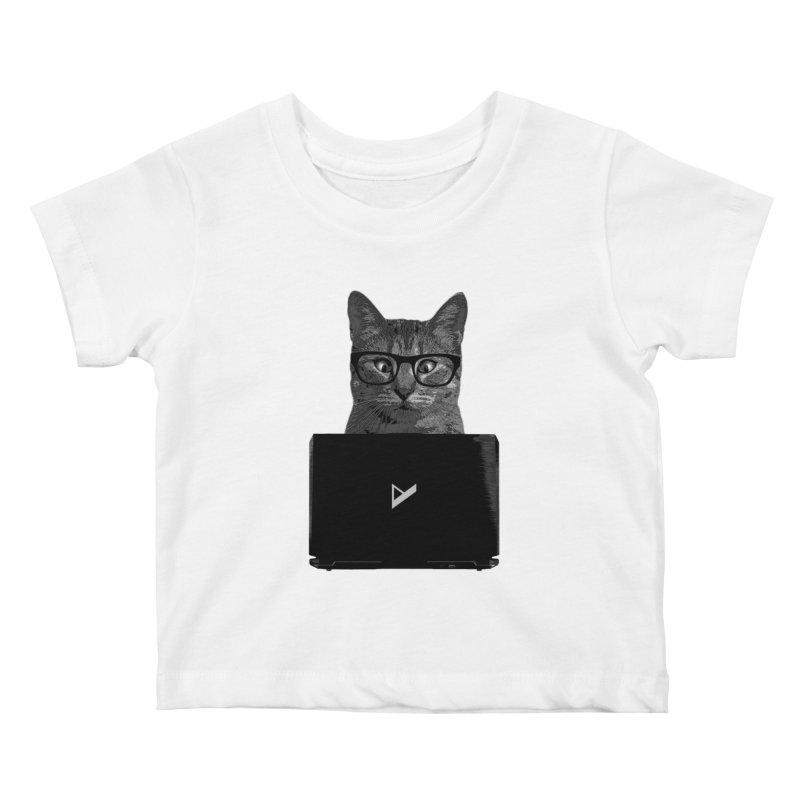 Cat Coding Kids Baby T-Shirt by Var x Apparel