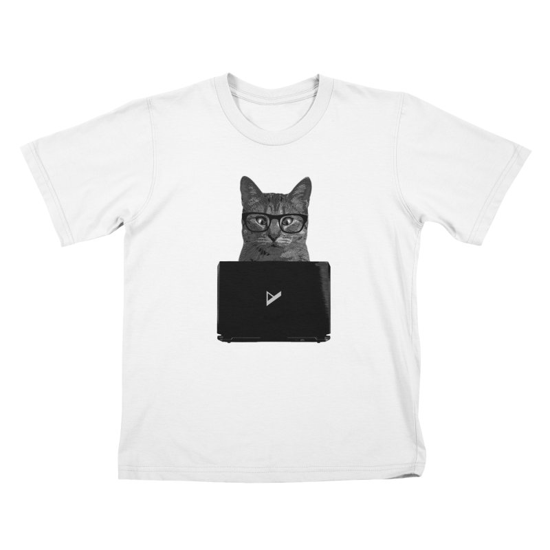 Cat Coding Kids T-Shirt by Var x Apparel