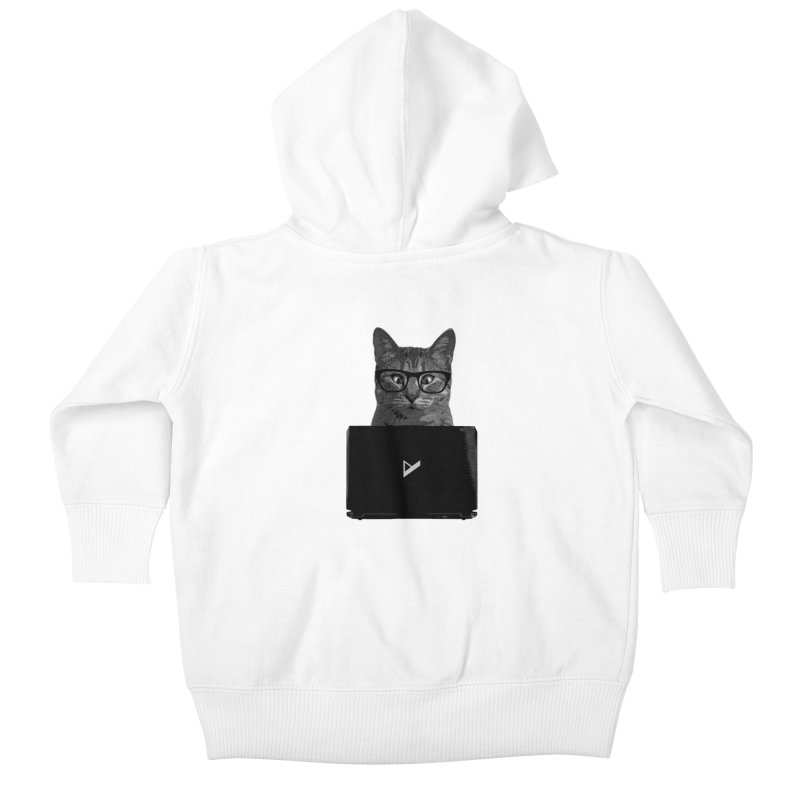 Cat Coding Kids Baby Zip-Up Hoody by Var x Apparel