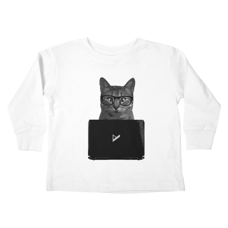 Cat Coding Kids Toddler Longsleeve T-Shirt by Var x Apparel