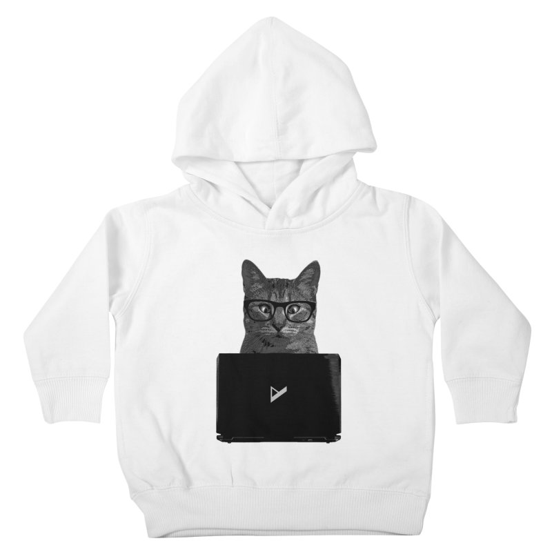 Cat Coding Kids Toddler Pullover Hoody by Var x Apparel
