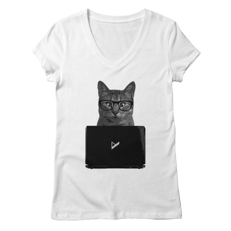 Cat Coding Women's Regular V-Neck by Var x Apparel