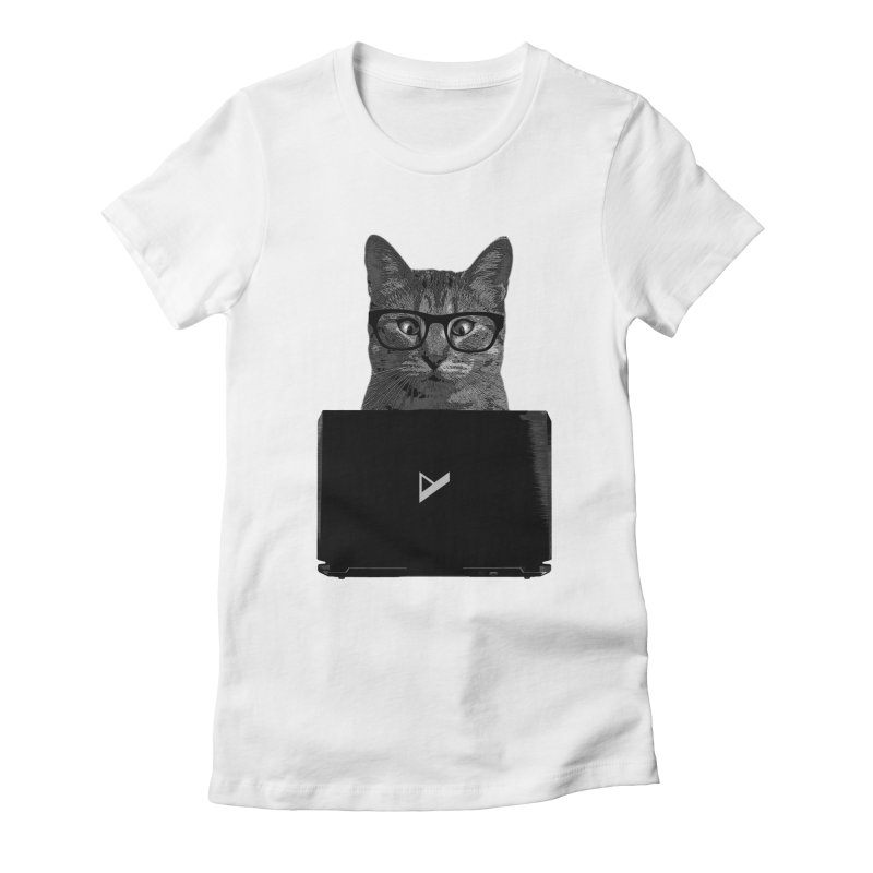 Cat Coding Women's Fitted T-Shirt by Var x Apparel