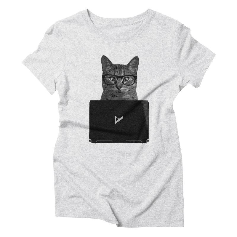 Cat Coding Women's Triblend T-Shirt by Var x Apparel