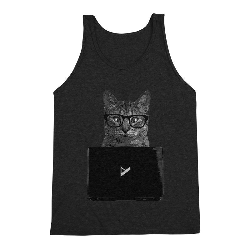 Cat Coding Men's Triblend Tank by Var x Apparel