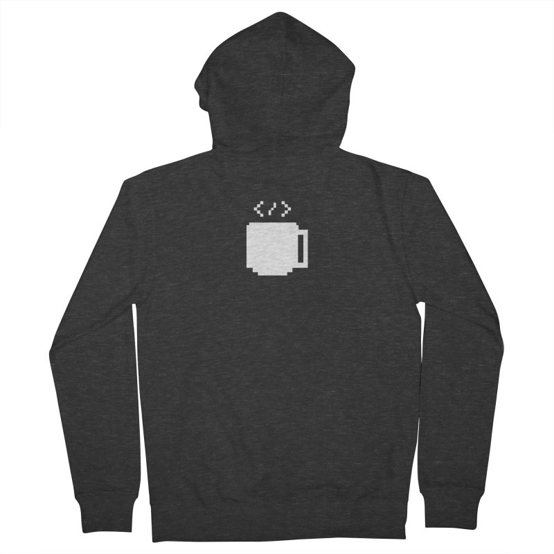Code and Coffee Men's French Terry Zip-Up Hoody by Var x Apparel