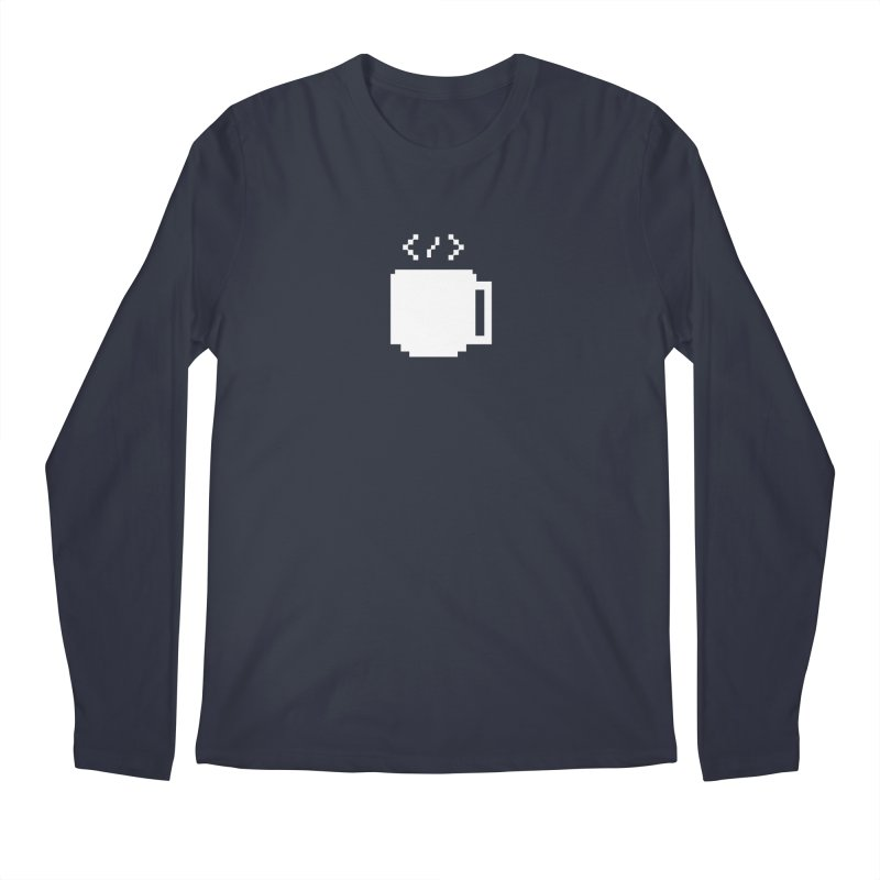 Code and Coffee Men's Regular Longsleeve T-Shirt by Var x Apparel