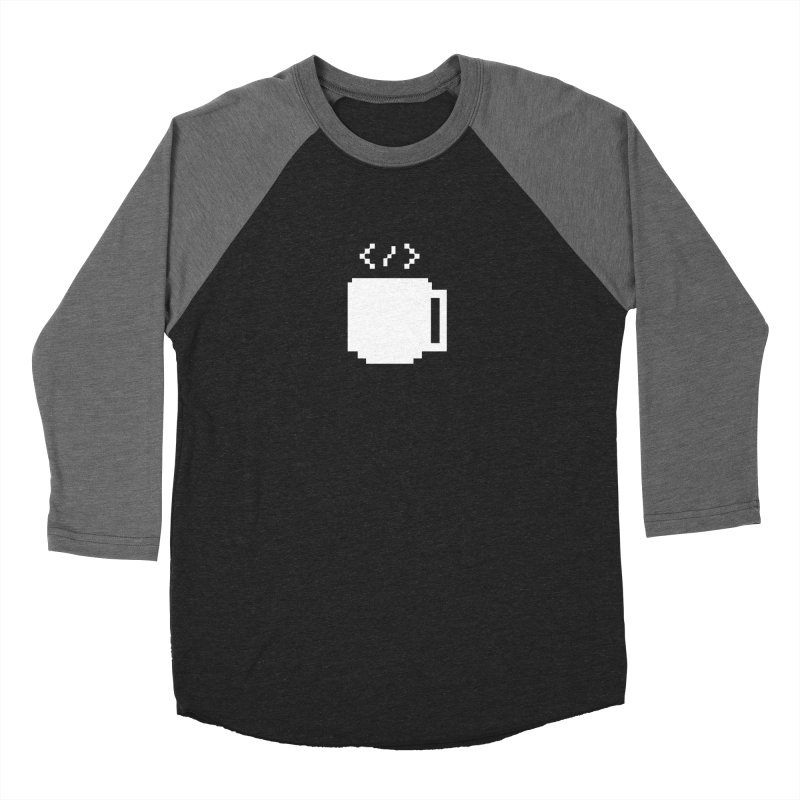 Code and Coffee Men's Baseball Triblend Longsleeve T-Shirt by Var x Apparel