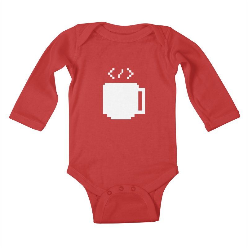 Code and Coffee Kids Baby Longsleeve Bodysuit by Var x Apparel