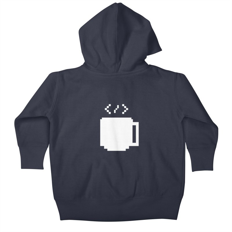 Code and Coffee Kids Baby Zip-Up Hoody by Var x Apparel