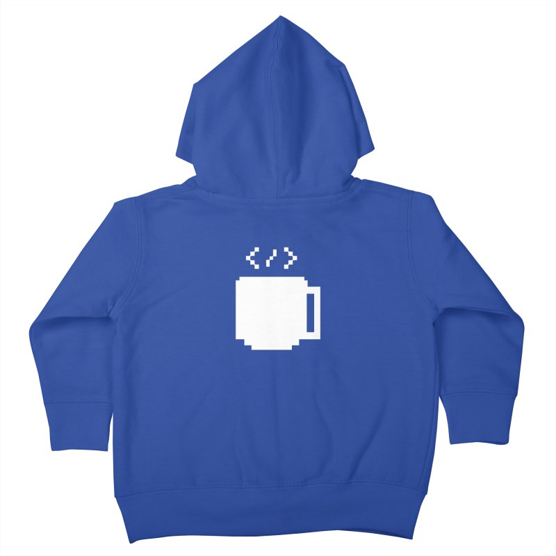 Code and Coffee Kids Toddler Zip-Up Hoody by Var x Apparel