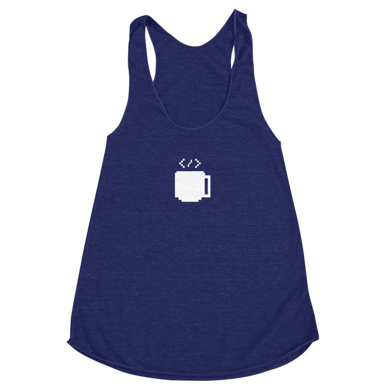 Code and Coffee Women's Racerback Triblend Tank by Var x Apparel