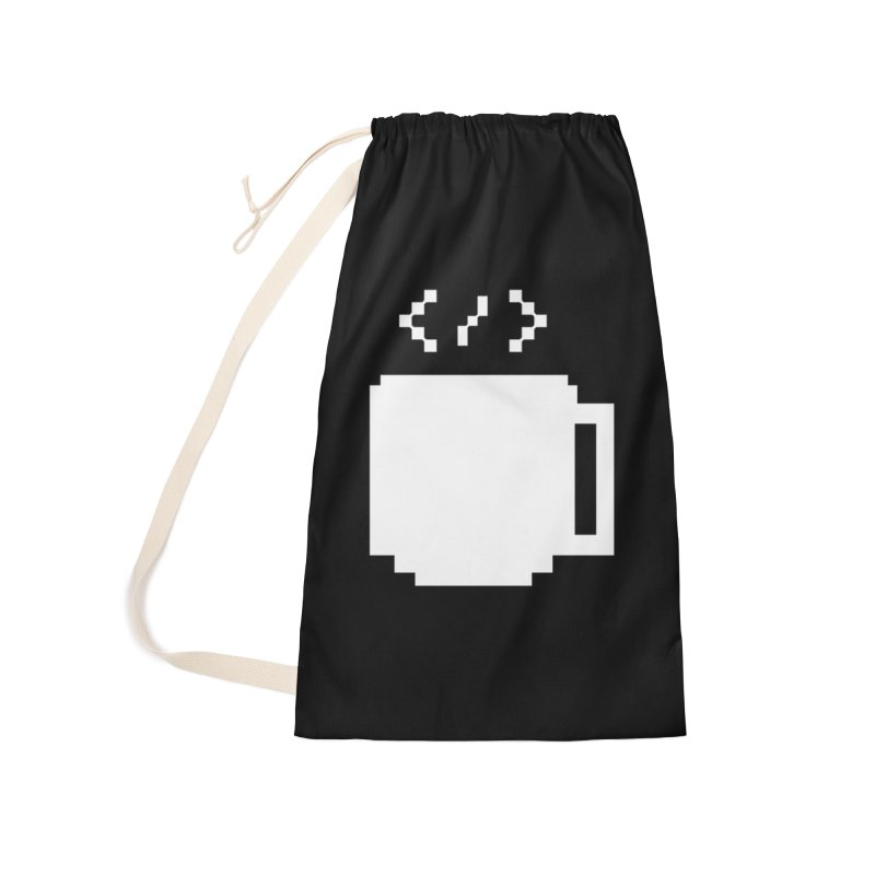 Code and Coffee Accessories Laundry Bag Bag by Var x Apparel