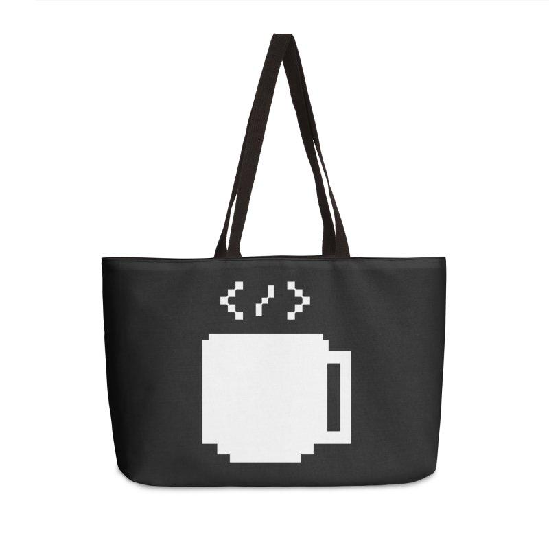 Code and Coffee Accessories Weekender Bag Bag by Var x Apparel