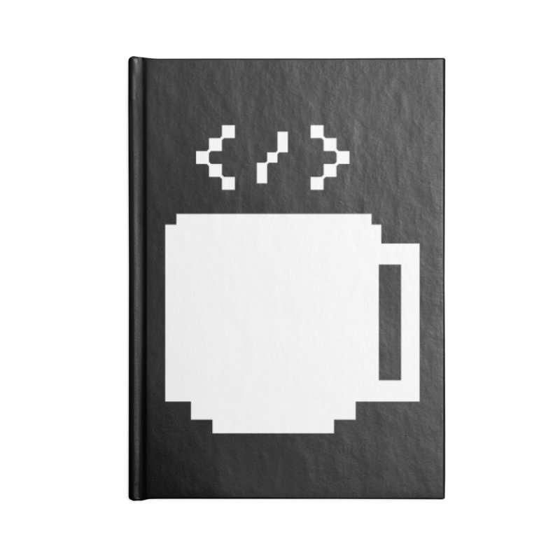 Code and Coffee Accessories Lined Journal Notebook by Var x Apparel