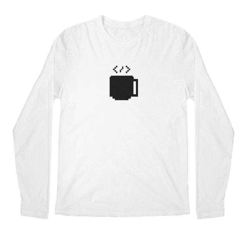 Code and Coffee Men's Regular Longsleeve T-Shirt by Var x Apparel