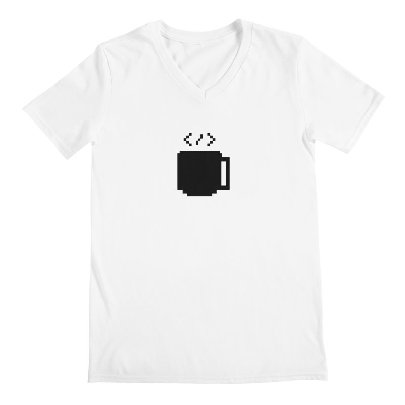 Code and Coffee Men's Regular V-Neck by Var x Apparel