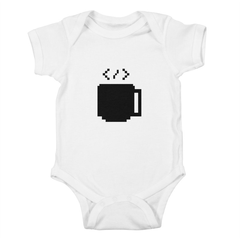 Code and Coffee Kids Baby Bodysuit by Var x Apparel