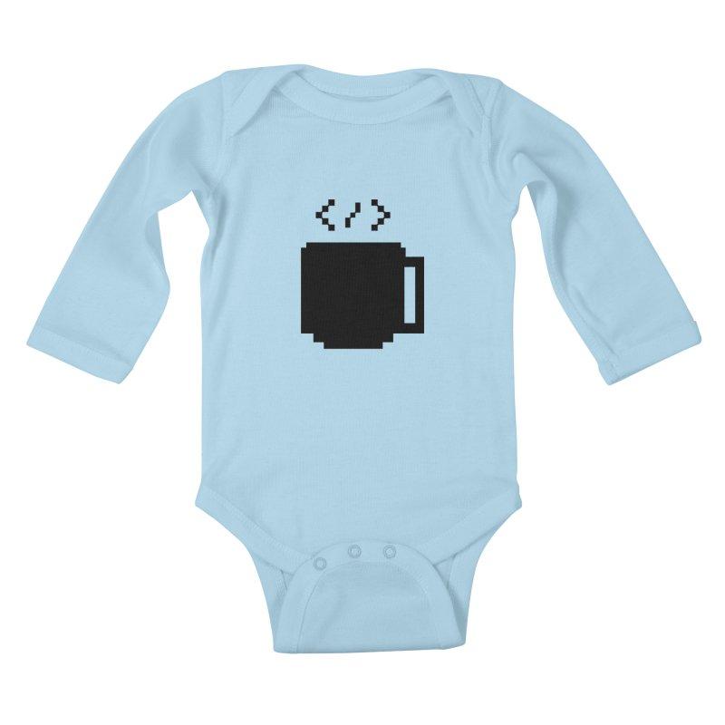 Code and Coffee Kids Baby Longsleeve Bodysuit by Var x Apparel