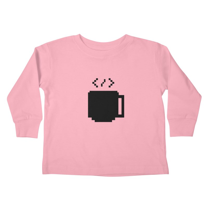 Code and Coffee Kids Toddler Longsleeve T-Shirt by Var x Apparel