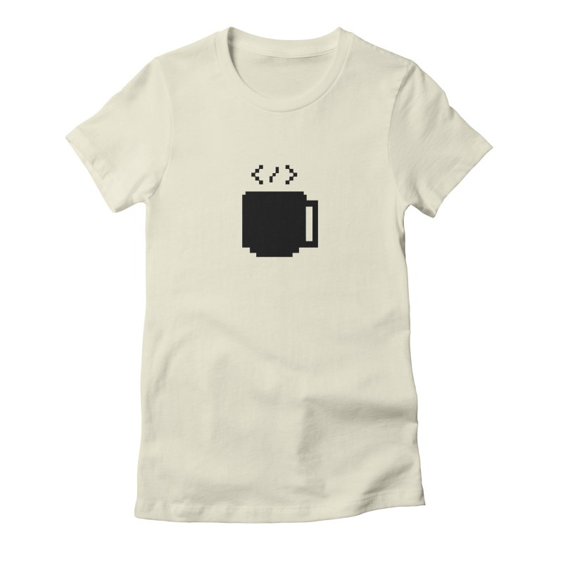 Code and Coffee Women's Fitted T-Shirt by Var x Apparel
