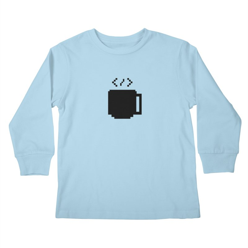 Code and Coffee Kids Longsleeve T-Shirt by Var x Apparel