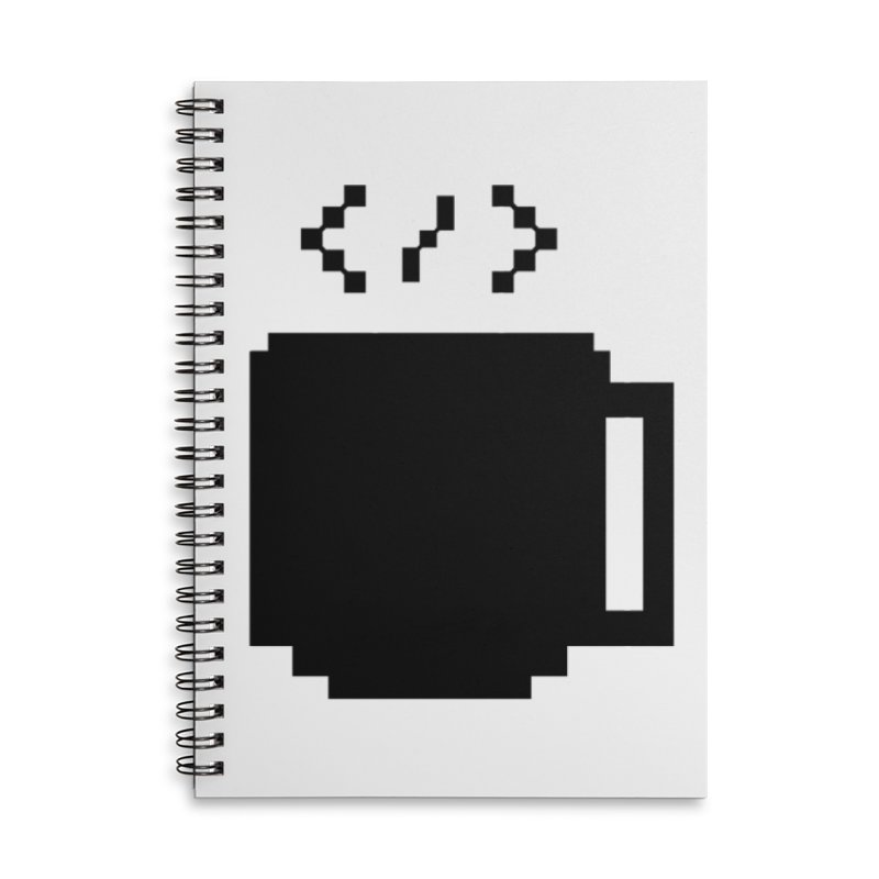 Code and Coffee Accessories Notebook by Var x Apparel