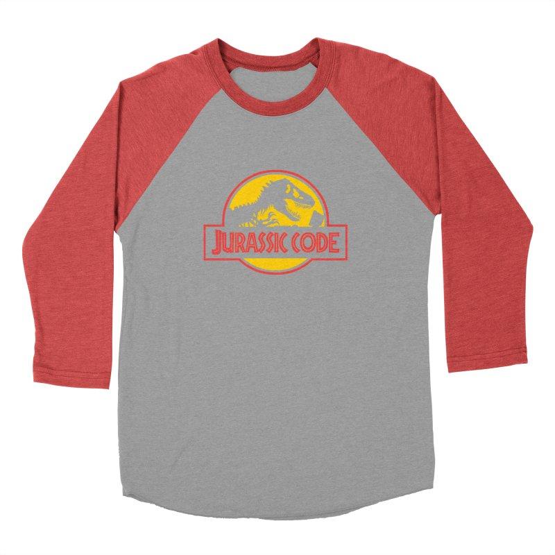 Jurassic Code Men's Baseball Triblend Longsleeve T-Shirt by Var x Apparel