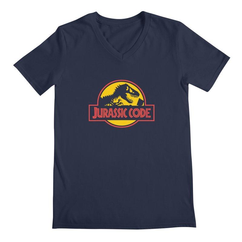 Jurassic Code Men's Regular V-Neck by Var x Apparel