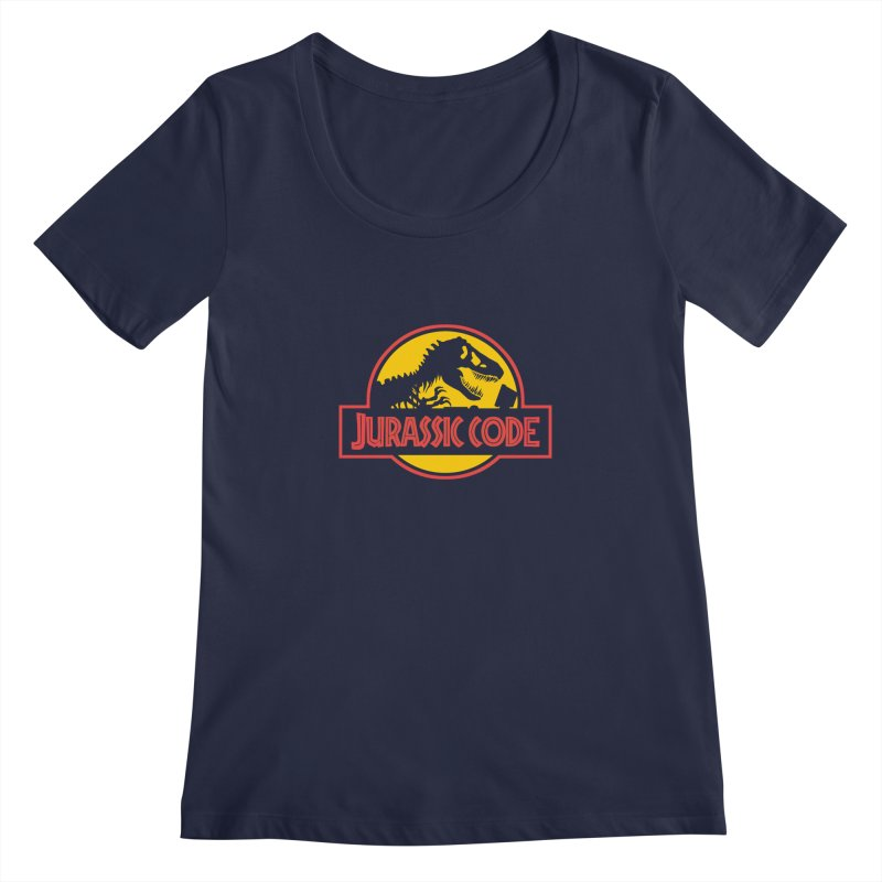 Jurassic Code Women's Regular Scoop Neck by Var x Apparel