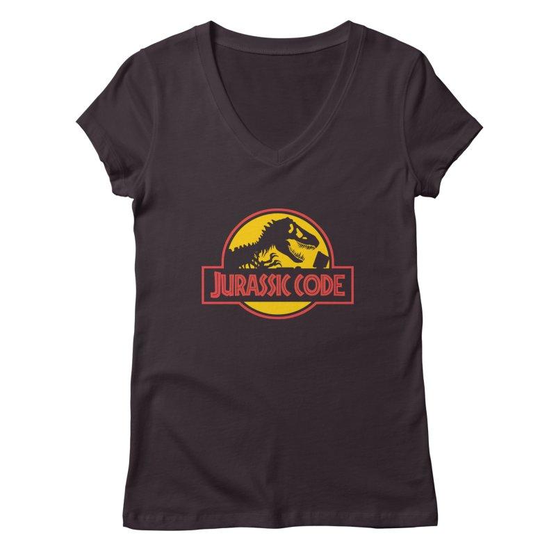 Jurassic Code Women's Regular V-Neck by Var x Apparel