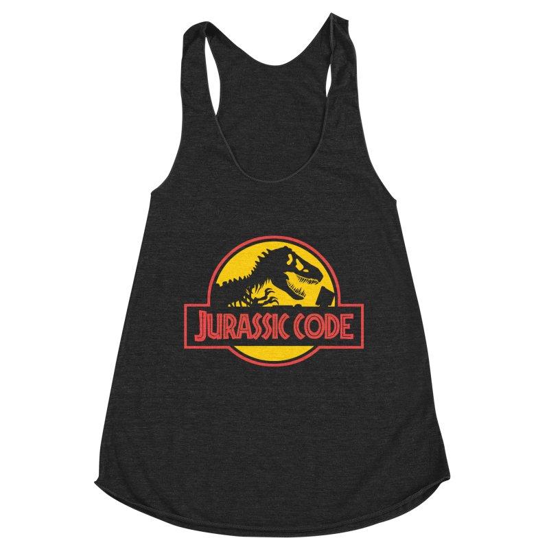 Jurassic Code Women's Racerback Triblend Tank by Var x Apparel