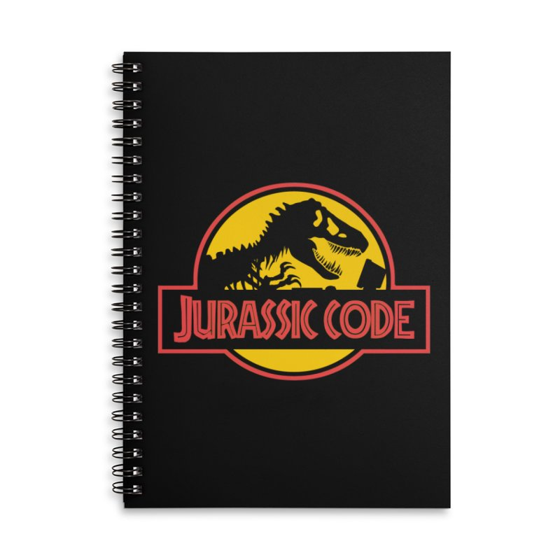 Jurassic Code Accessories Lined Spiral Notebook by Var x Apparel