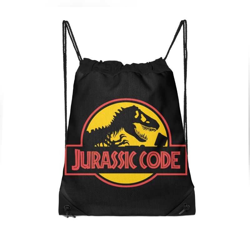 Jurassic Code Accessories Drawstring Bag Bag by Var x Apparel