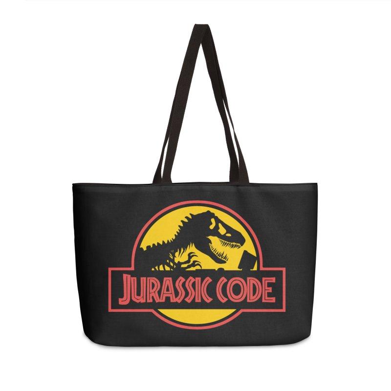 Jurassic Code Accessories Weekender Bag Bag by Var x Apparel