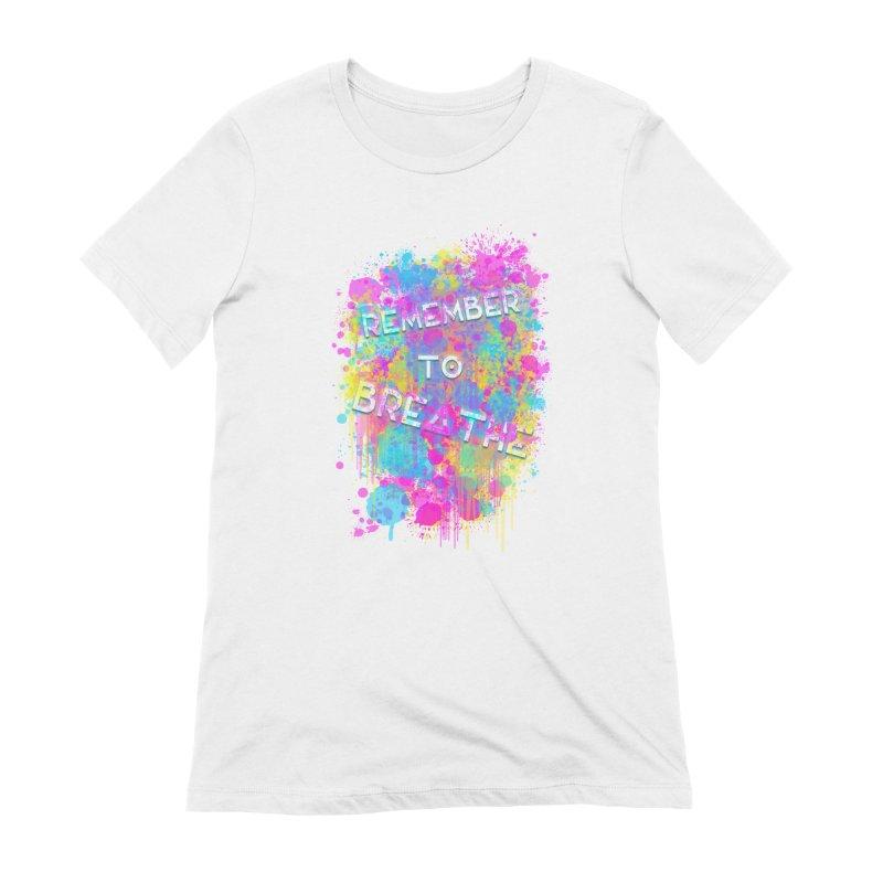 REMEMBER TO BREATHE (SPLATTER) Women's Extra Soft T-Shirt by VATTICA | OFFICIAL MERCH