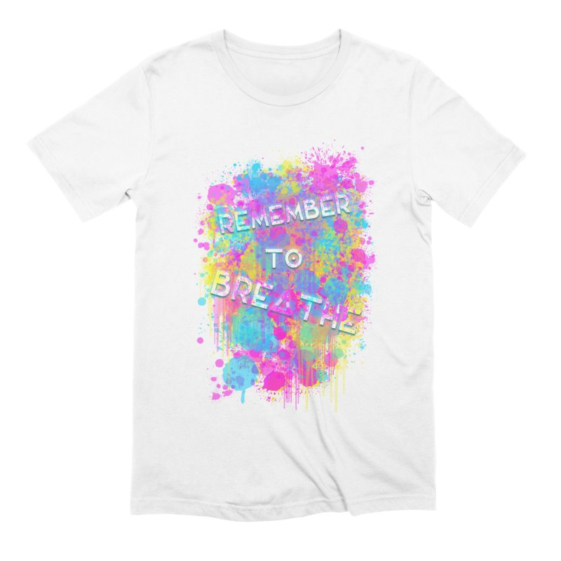 REMEMBER TO BREATHE (SPLATTER) Men's T-Shirt by VATTICA | OFFICIAL MERCH
