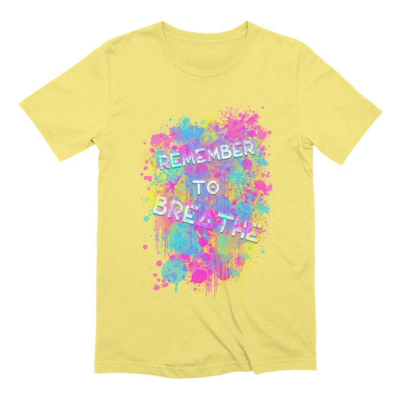 REMEMBER TO BREATHE (SPLATTER) in Men's Extra Soft T-Shirt Light Yellow by VATTICA | OFFICIAL MERCH