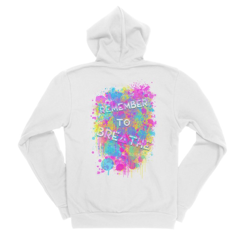 REMEMBER TO BREATHE (SPLATTER) Men's Zip-Up Hoody by VATTICA | OFFICIAL MERCH