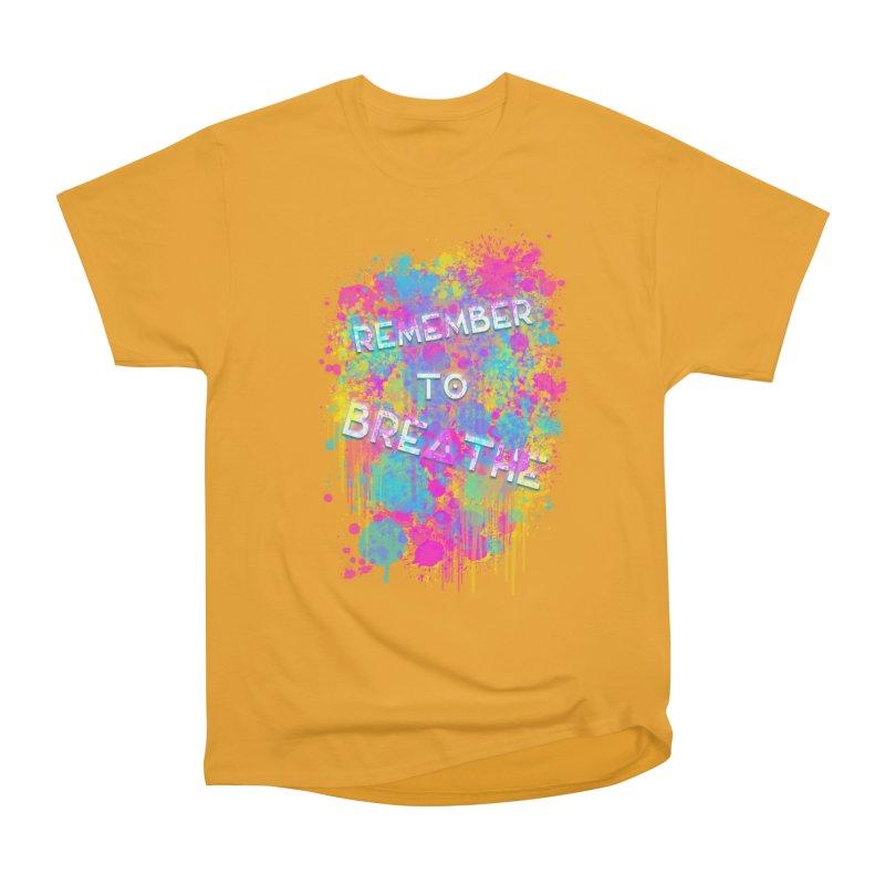 REMEMBER TO BREATHE (SPLATTER) Men's Heavyweight T-Shirt by VATTICA   OFFICIAL MERCH