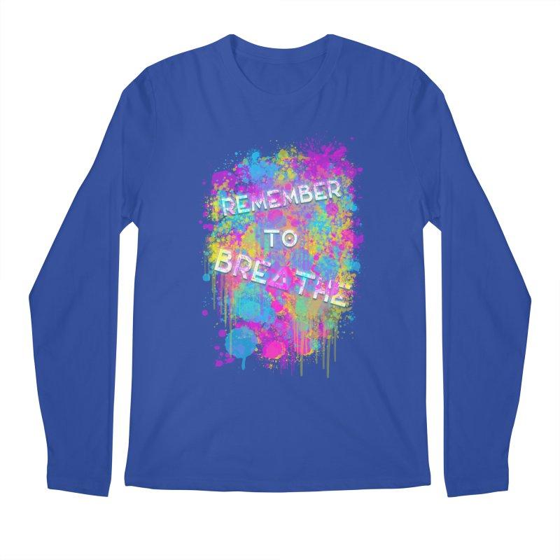 REMEMBER TO BREATHE (SPLATTER) Men's Regular Longsleeve T-Shirt by VATTICA   OFFICIAL MERCH