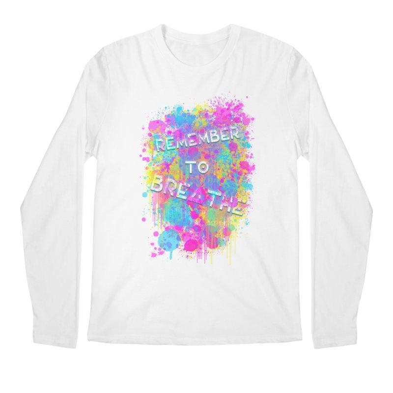 REMEMBER TO BREATHE (SPLATTER) Men's Regular Longsleeve T-Shirt by VATTICA | OFFICIAL MERCH