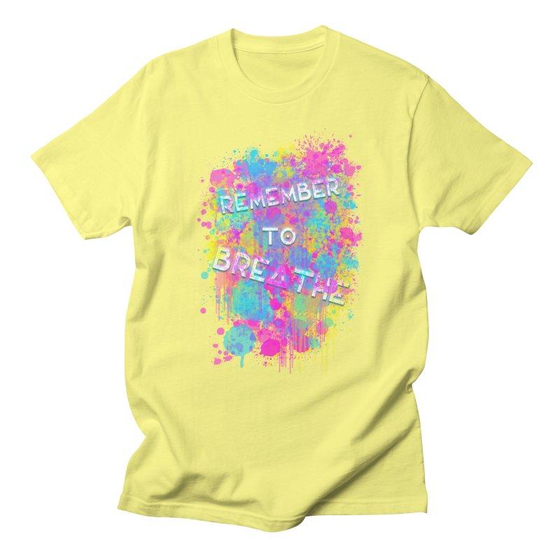 REMEMBER TO BREATHE (SPLATTER) Men's T-Shirt by VATTICA | OFFICIAL MERCH