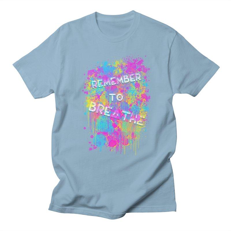 REMEMBER TO BREATHE (SPLATTER) Men's Regular T-Shirt by VATTICA | OFFICIAL MERCH