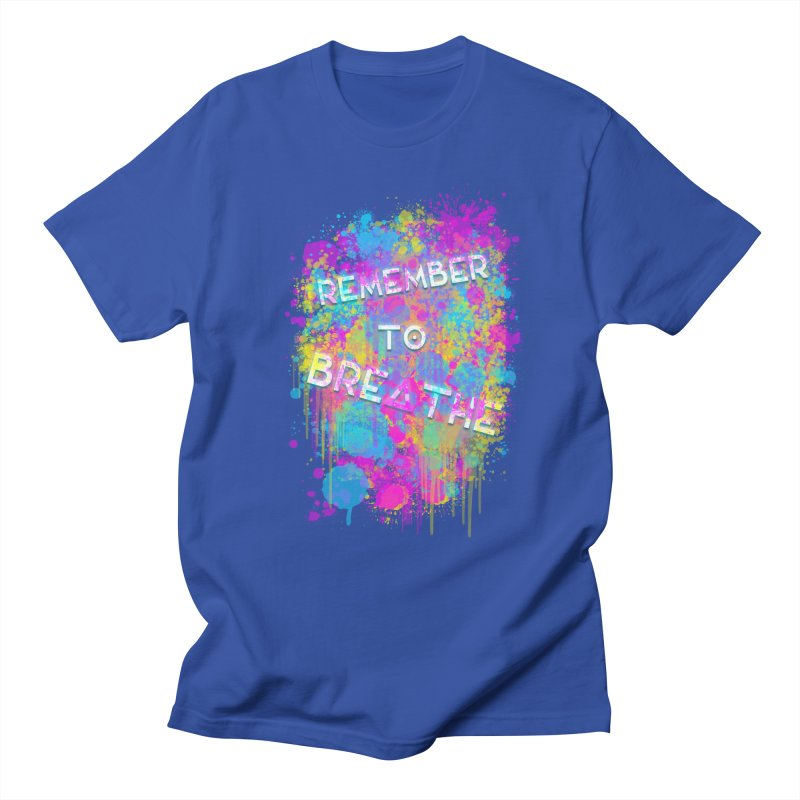 REMEMBER TO BREATHE (SPLATTER) Men's Regular T-Shirt by VATTICA | OFFICIAL MERCH