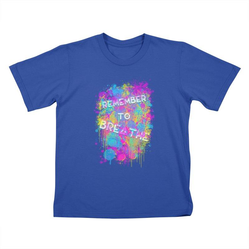 REMEMBER TO BREATHE (SPLATTER) Kids T-Shirt by VATTICA | OFFICIAL MERCH