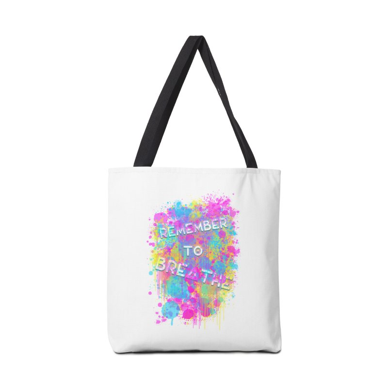 REMEMBER TO BREATHE (SPLATTER) Accessories Tote Bag Bag by VATTICA | OFFICIAL MERCH