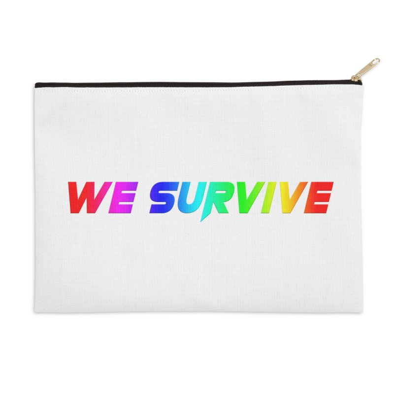 WE SURVIVE (LGBTQI PRIDE) Accessories Zip Pouch by VATTICA | OFFICIAL MERCH