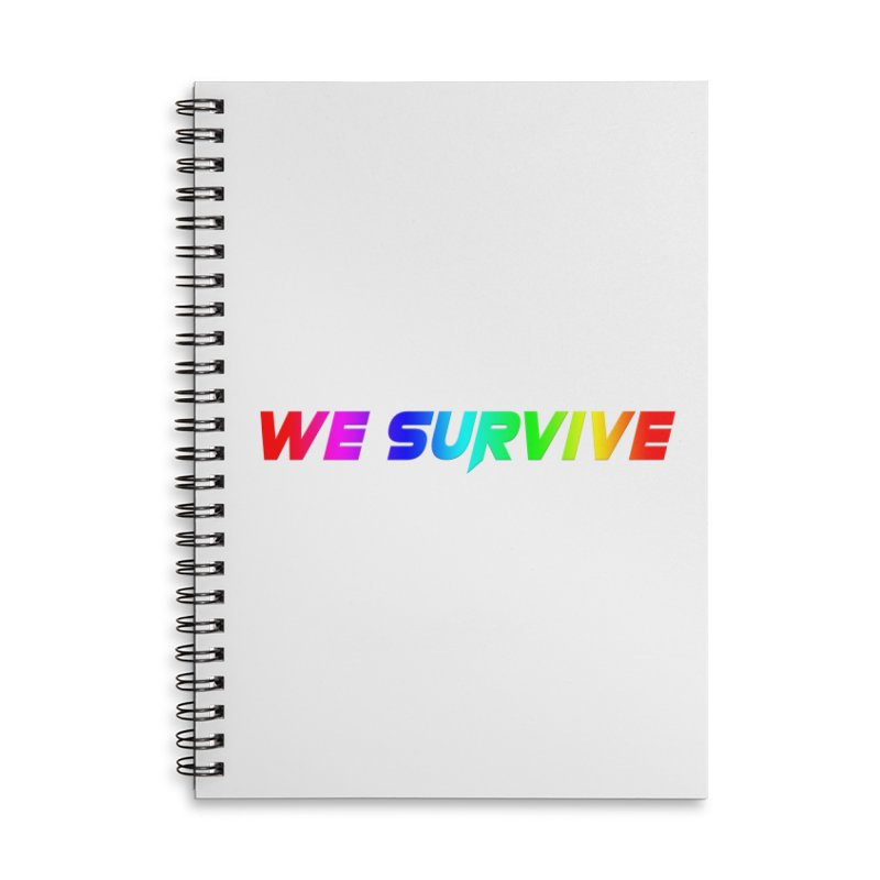 WE SURVIVE (LGBTQI PRIDE) Accessories Lined Spiral Notebook by VATTICA | OFFICIAL MERCH