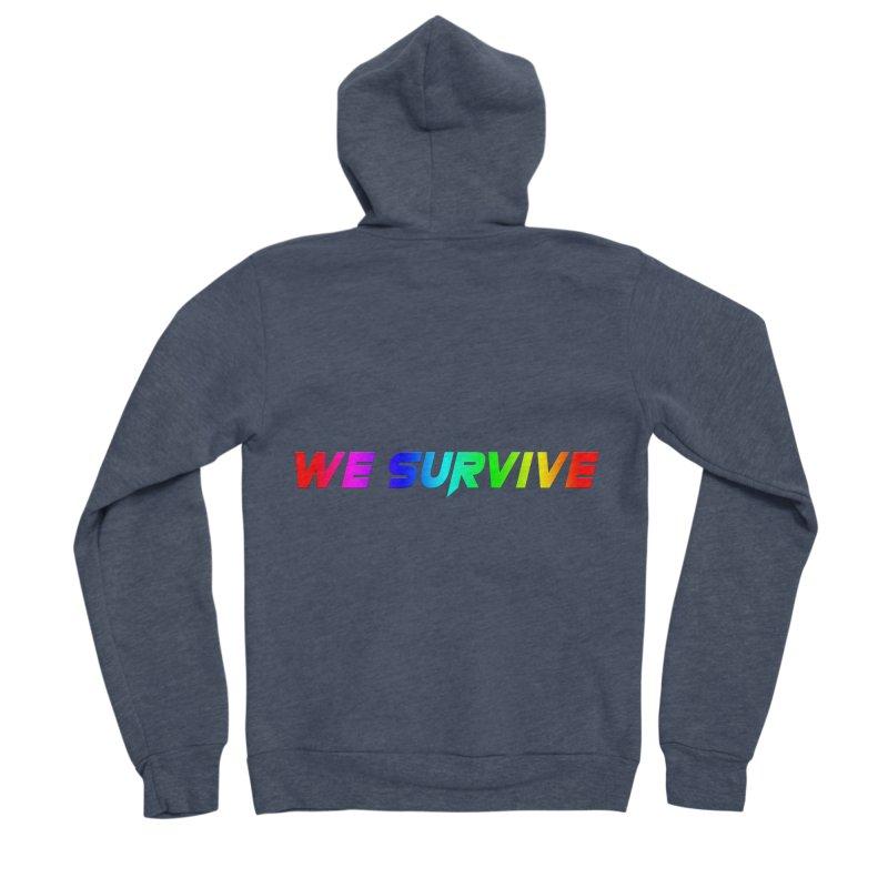 WE SURVIVE (LGBTQI PRIDE) Men's Sponge Fleece Zip-Up Hoody by VATTICA | OFFICIAL MERCH